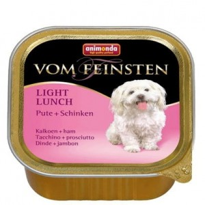 Animonda vom Feinsten Dog Light Lunch Indyk i Szynka 150g