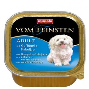 Animonda vom Feinsten Dog Adult Drób i Dorsz tacka 150g