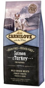 Carnilove Dog Salmon & Turkey Puppy - łosoś i indyk 12kg