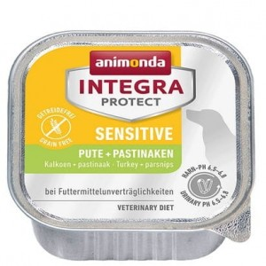 Animonda Integra Protect Sensitive dla psa indyk + pasternak tacka 150g