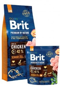 Brit Premium By Nature Senior S+M Small + Medium 1kg