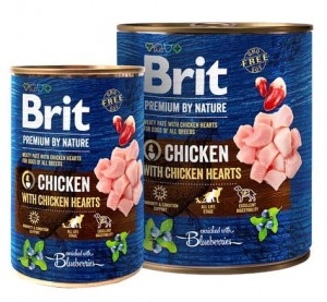 Brit Premium By Nature Chicken & Hearts puszka 800g