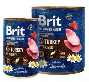 Brit Premium By Nature Turkey & Liver Junior puszka 400g