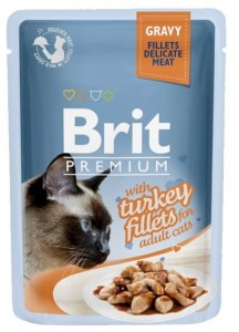 Brit Premium Cat Fillets with Turkey sos saszetka 85g