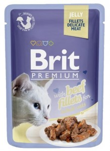 Brit Premium Cat Fillets with Beef galaretka saszetka 85g
