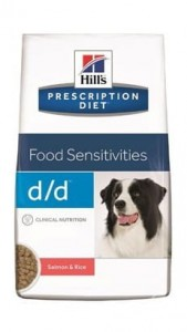 Hill's Prescription Diet d/d Łosoś i Ryż Canine 12kg